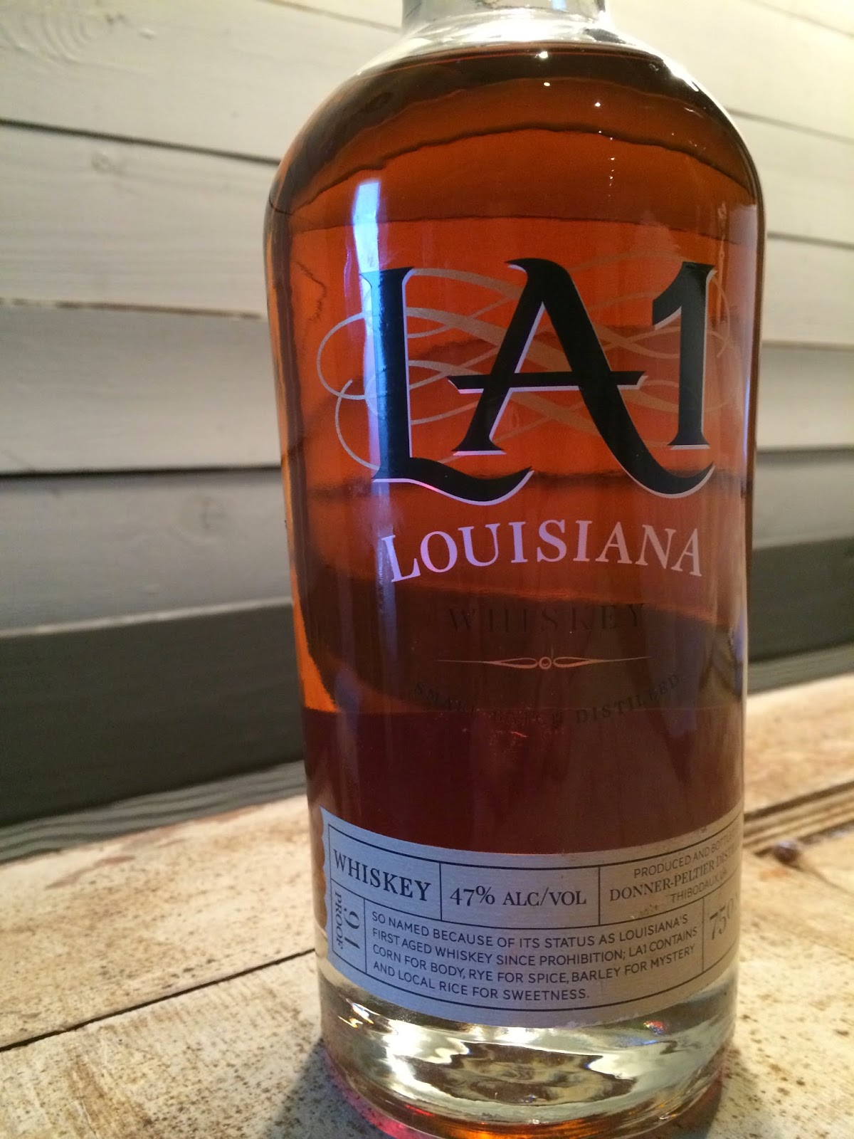 Donner-Peltier's LA1 Whiskey