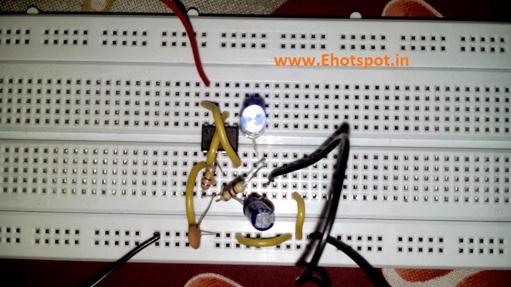 Laser Ray Effect Using 555 Electronics Hotspot