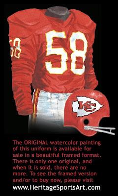 Kansas City Chiefs 1963 uniform