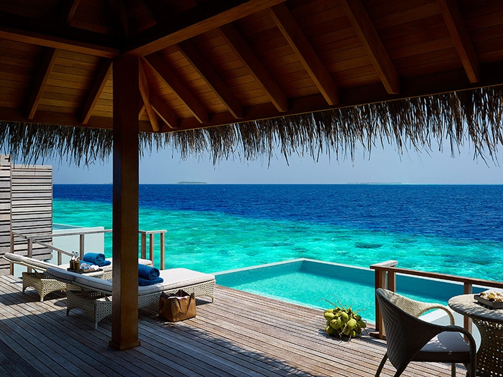 Covered deck in Luxury Dusit Thani Resort in Maldives