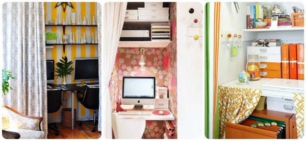 Converting Closets into Offices & a Pinterest Contest at Homes.