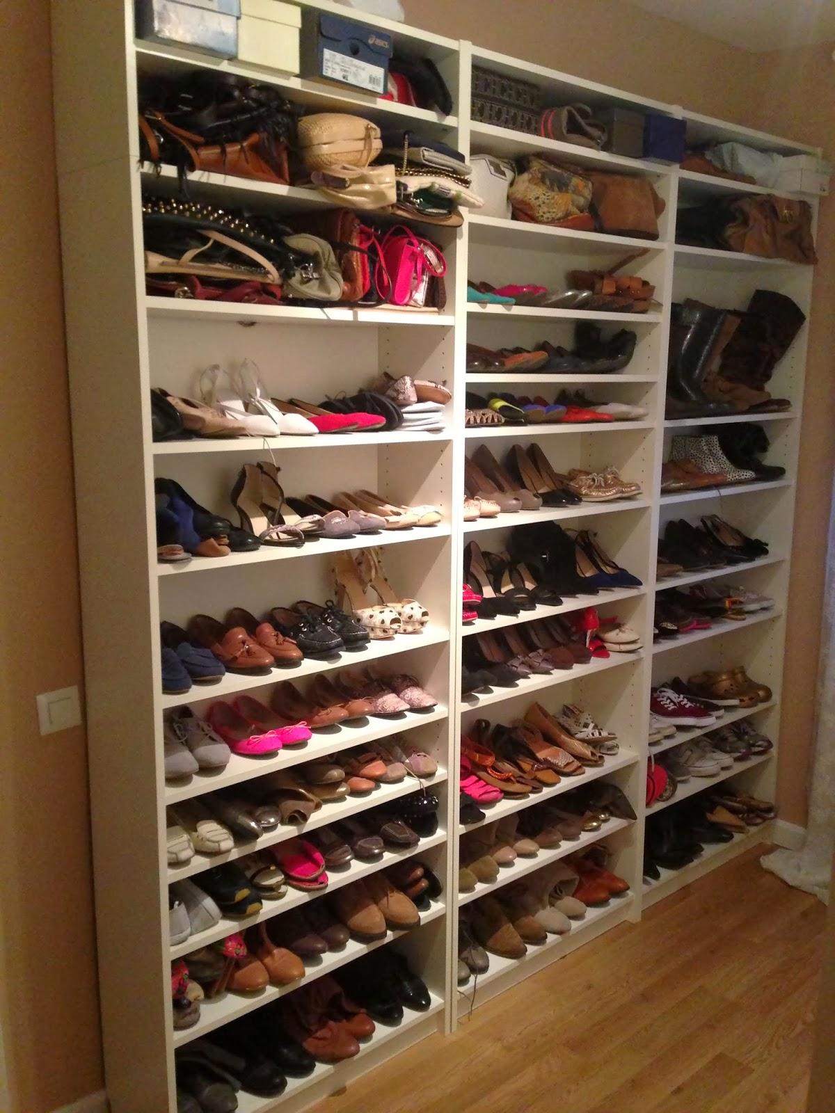 Marguissima como organizo mis zapatos y bolsos for Estanteria zapatero