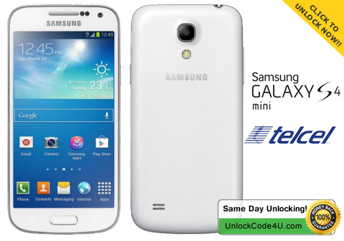 Factory Unlock Code for Samsung Galaxy S4 Mini from Telcel Mexico
