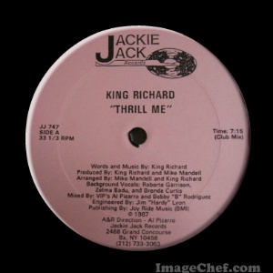 KING RICHARD - Thrill me