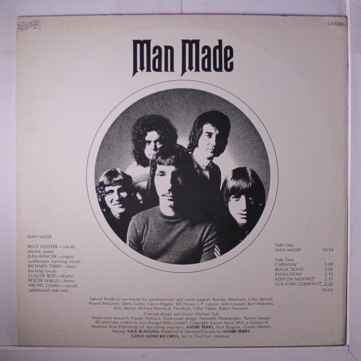 Man Made  s/t. 1971 Good Noise