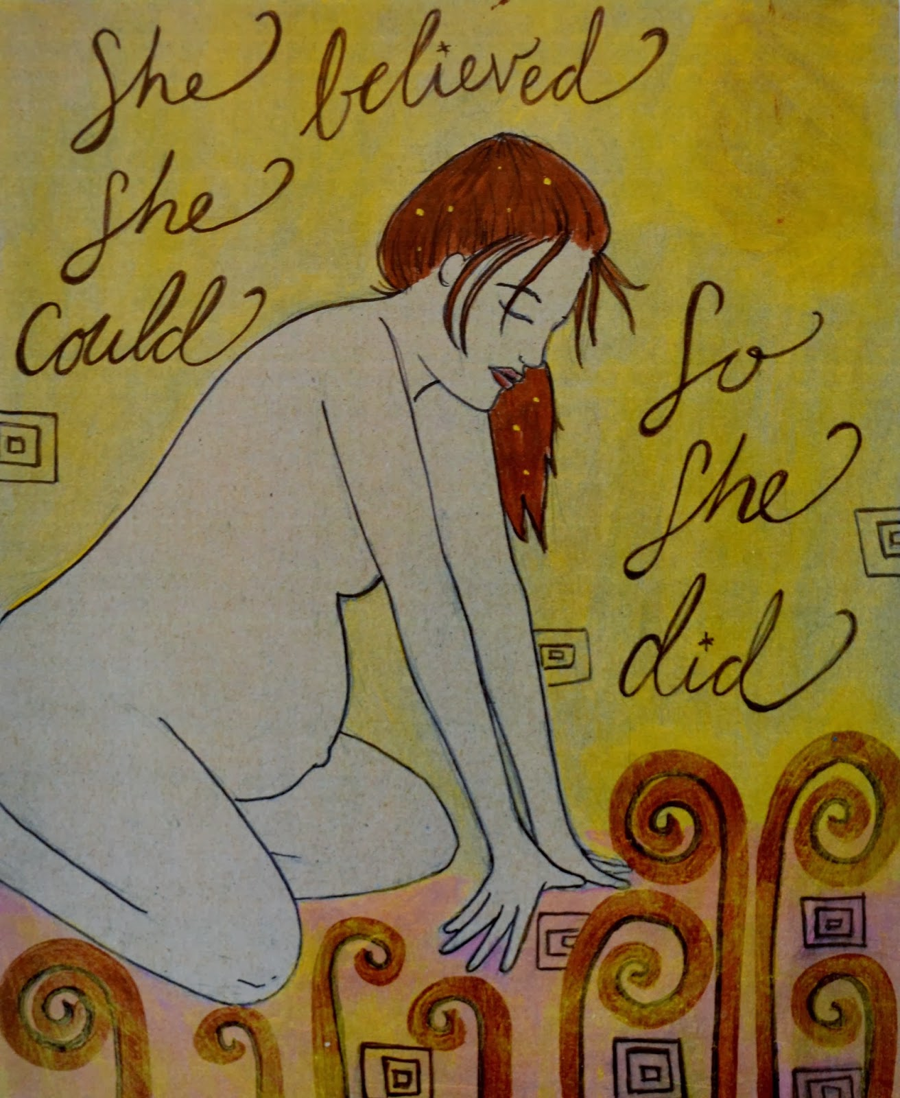childbirth art print/ spiritysol