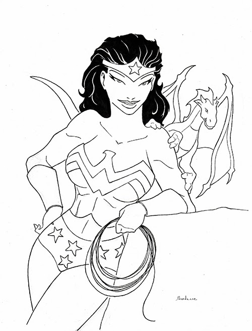 Wonder Woman comic fan art