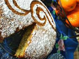 ORANGE spice ALMOND flourless torte cake