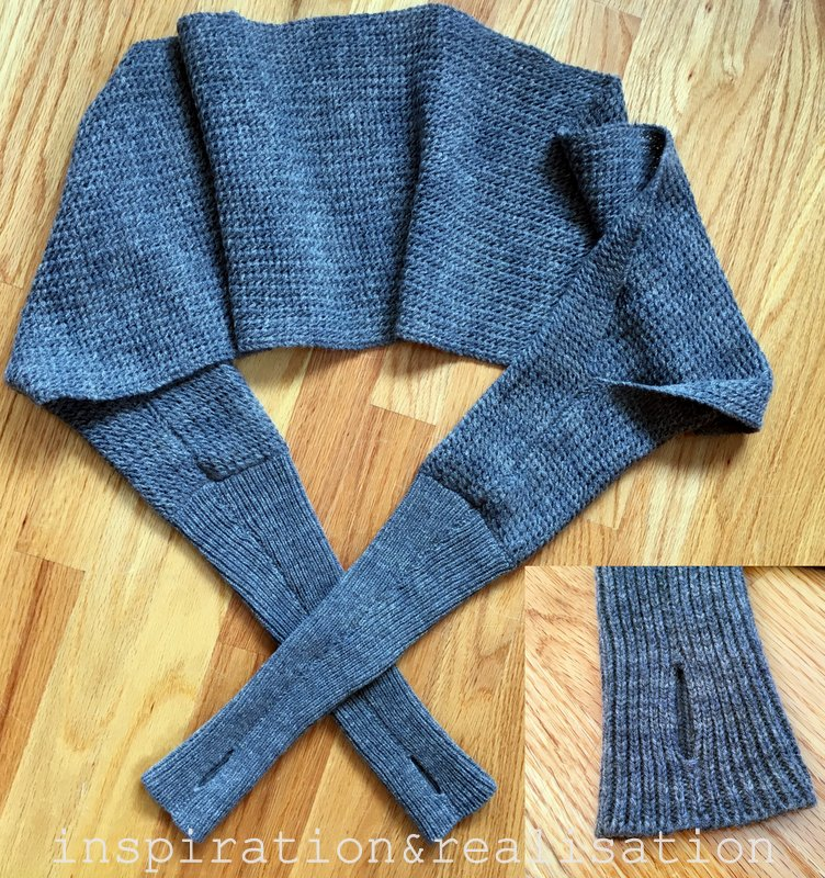 Knitting Pattern For Scarf With Sleeves : inspiration and realisation: DIY fashion blog: DIY : all in one scarf