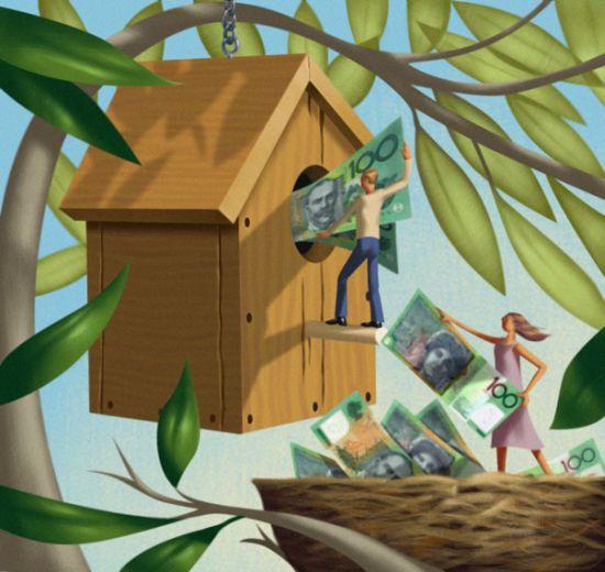 Jim Tsinganos ilustrações surreais oníricas natureza revista Ninho de dinheiro