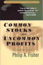 Common Stocks and Uncommon Profits by Philip A. Fisher book