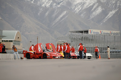 Ferrari FXX race team on track day