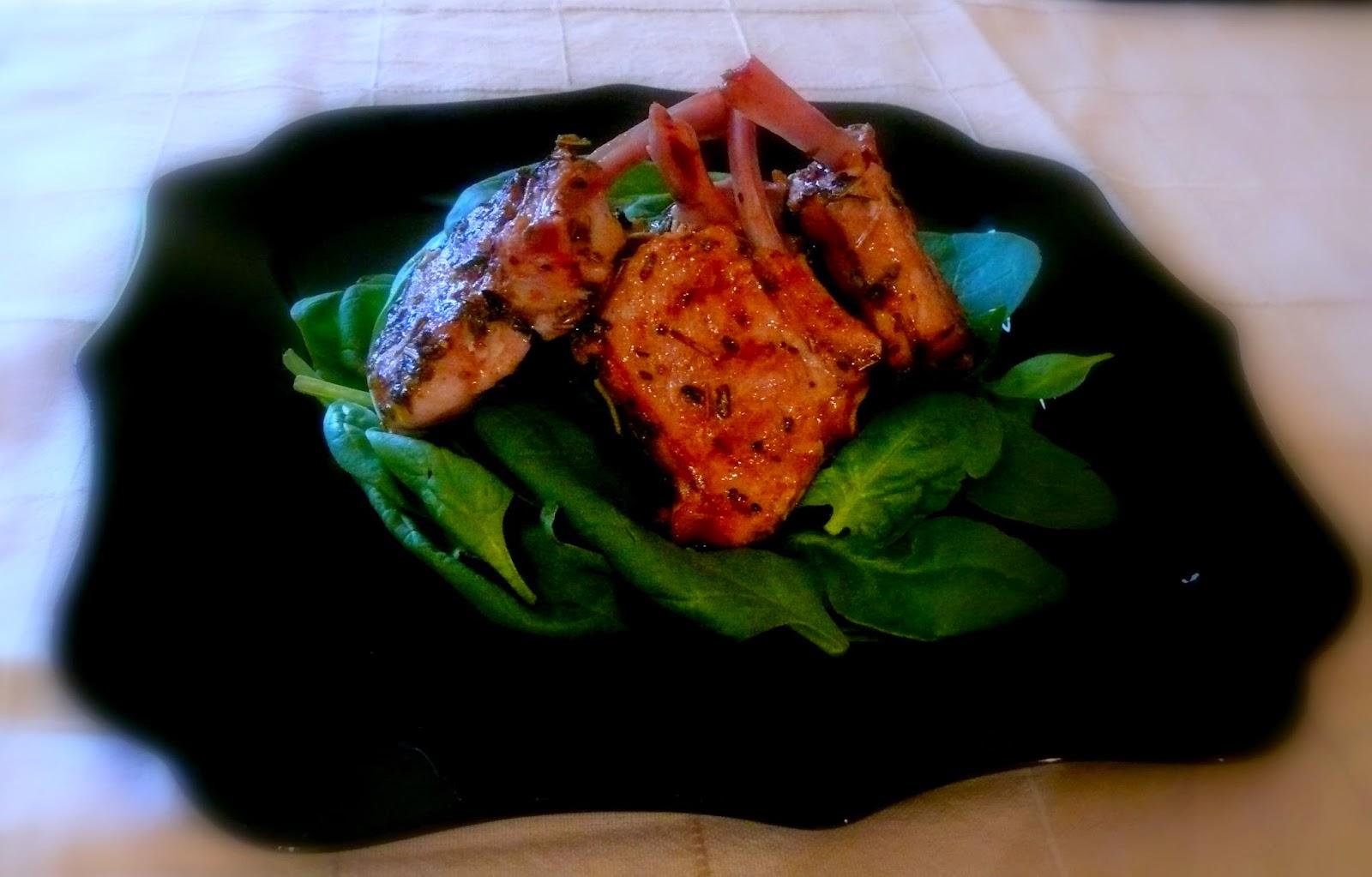 grillowane kotleciki cielęce z szałwią i chilli