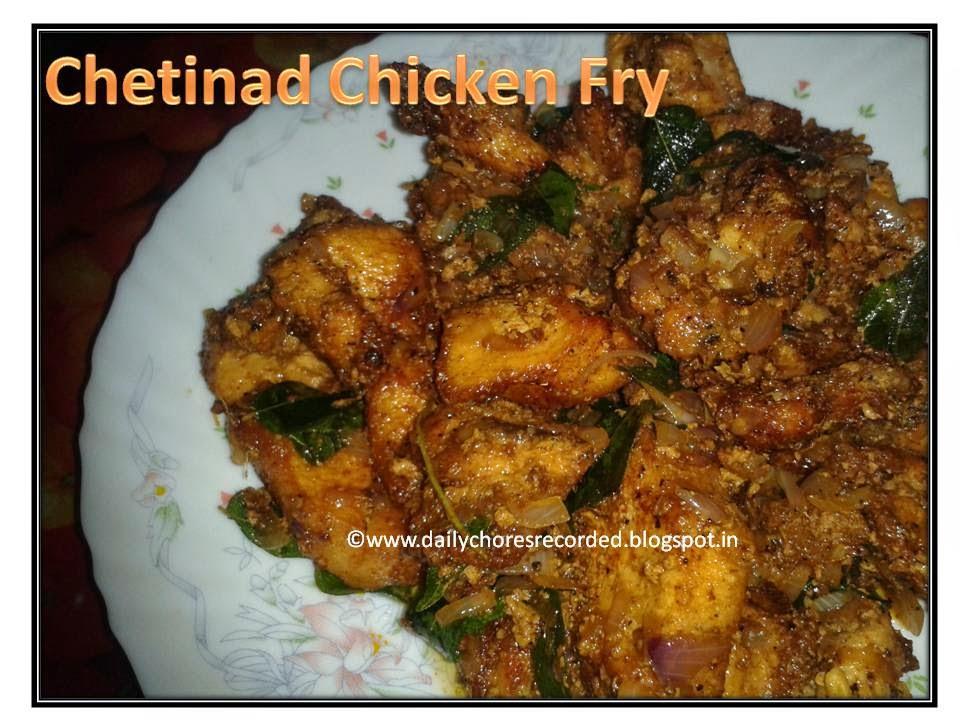 Chetinad Chicken Fry