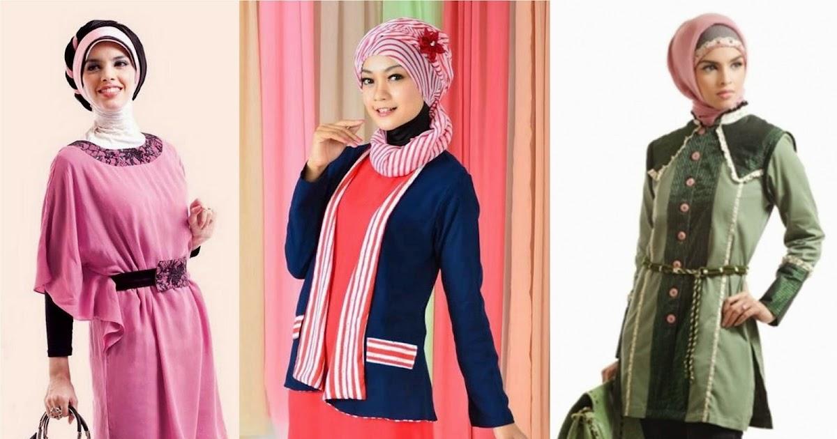 Model Pakaian Formal Wanita Muslimah Feminim Modis Terbaru
