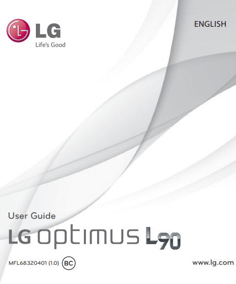 LG Optimus L90 D415 Manual