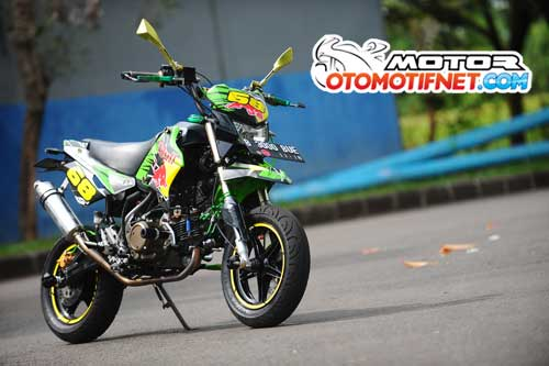 Modifikasi Kawasaki KSR 110 Mini Moto Racing