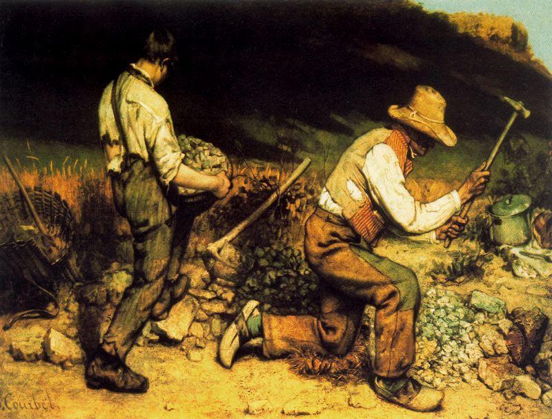 Los picapedreros, de Gustave Coubert