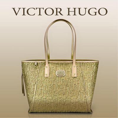 bolsa victor hugo dourada