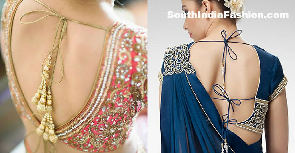 latest backless blouse designs