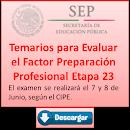 Temarios para evaluación factor preparación