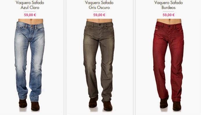 Ejemplos de algunos de los pantalones vaqueros en oferta