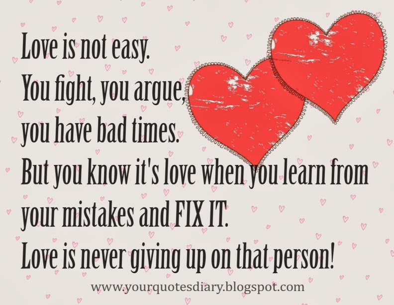 love is not easy quotes