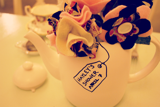 High Tea Bridal Shower - DIY teapot
