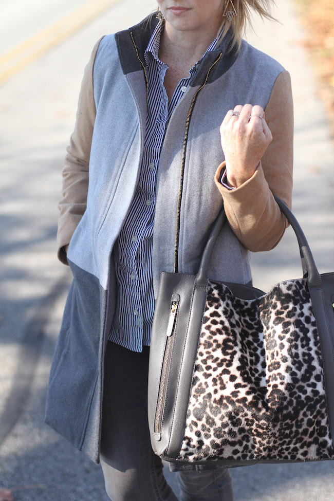 shein coat, boden bag