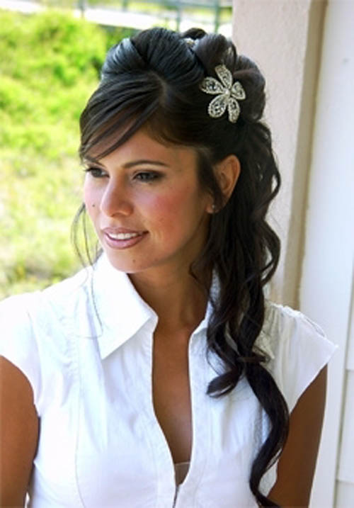 bridal hair styles for long hair
