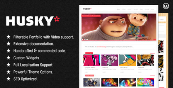 Image for Husky – Agency and Creative Portfolio Theme