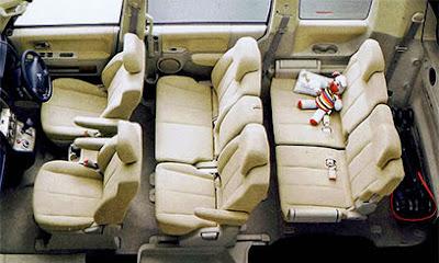 Mitsubishi Delica D-5 Konfigurasi Kursi Normal