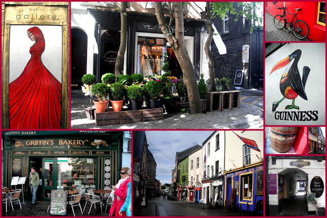 collage with images from Galway city, Ireland