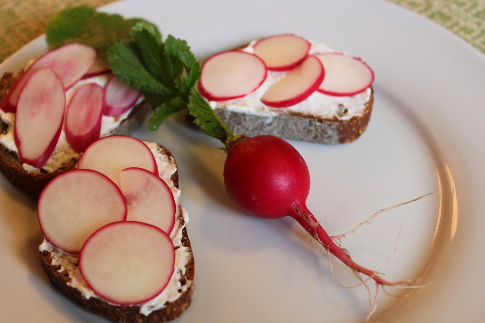what's for lunch?  radish sandwiches.  really?