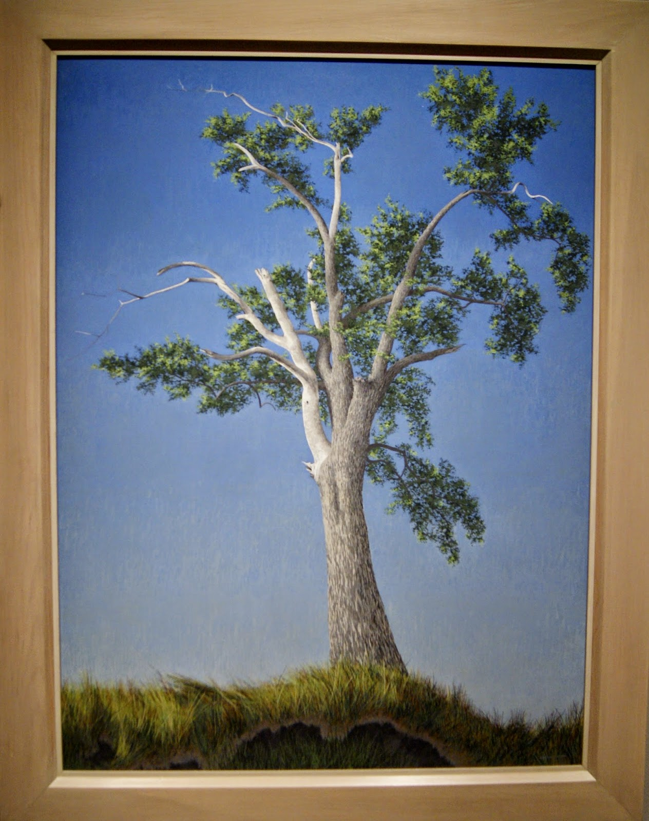 Alex Colville Exhibit at Art Gallery of Ontario in Toronto, Elm Tree At Horton Landing, 1956, paintings, art, artmatters, culture,ontario, Canadian Artist, Painter, Canada, Alice Munro, The Progress of Love