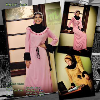 Koleksi Mazaya Muslimah Pink baby hitam Coklat susu
