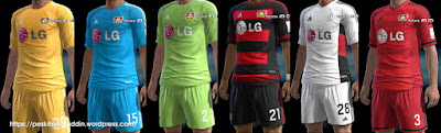 PES 2013 Bayer Leverkusen kits 2015-2016 by Syirojuddin