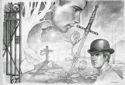 Pencil drawing for Su pecado fue la envidia by rafater