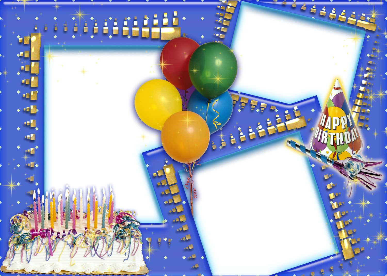 Happy Birthday Frames for Photoshop