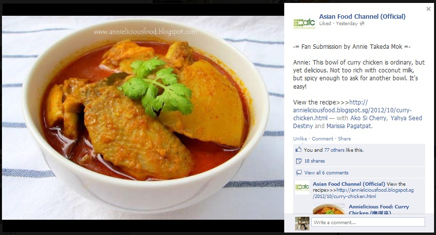 Annielicious food curry chicken this post gets featured in asian food channel afc facebook forumfinder Choice Image