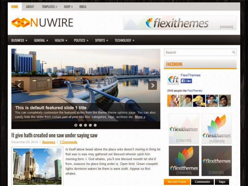 Nuwire - Free Wordpress Theme