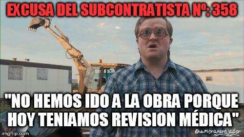 subcontatas obras jefe de obra excusa
