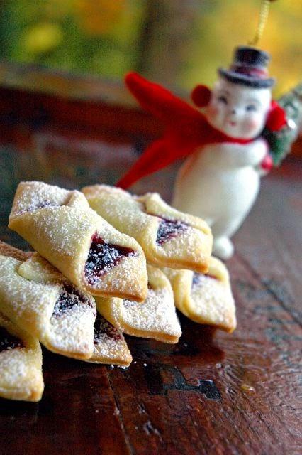 Ukranian Christmas Strawberry Jam Kolaches Christmas Cookies