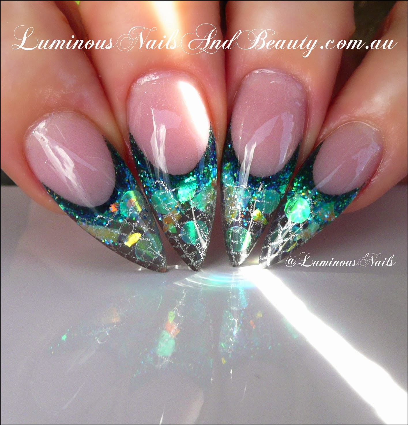 Luminous Nails Mermaids Tale Nails Inspired By Greg Salo From