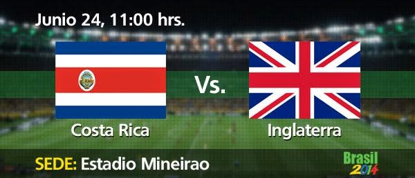 Partido Costa Rica vs Inglaterra
