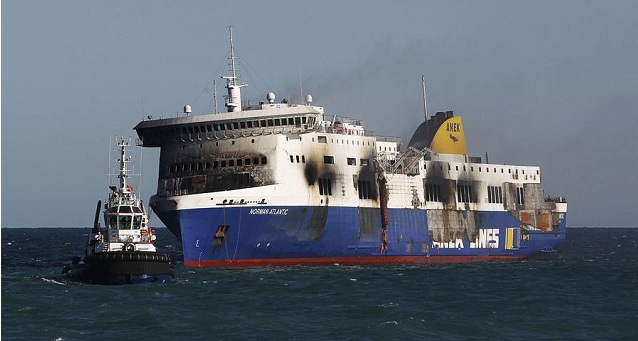 """""""Ανθρώπινο λάθος"""" η πυρκαγιά στο πλοίο Norman Atlantic καταλήγει το πόρισμα των Ιταλικών Αρχών"""