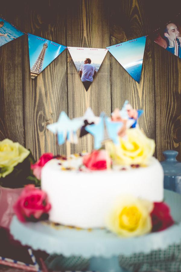 Partydekoration selbstgemacht: Aus Fotos wird eine Geburtstagsausstattung!