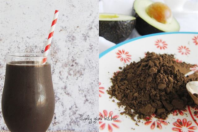 http://www.curlygirlkitchen.com/2013/06/chocolate-avocado-smoothie.html