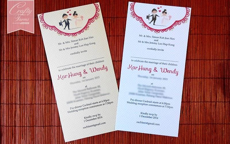 Sweet Cartoon Couple Wedding Invitation Card