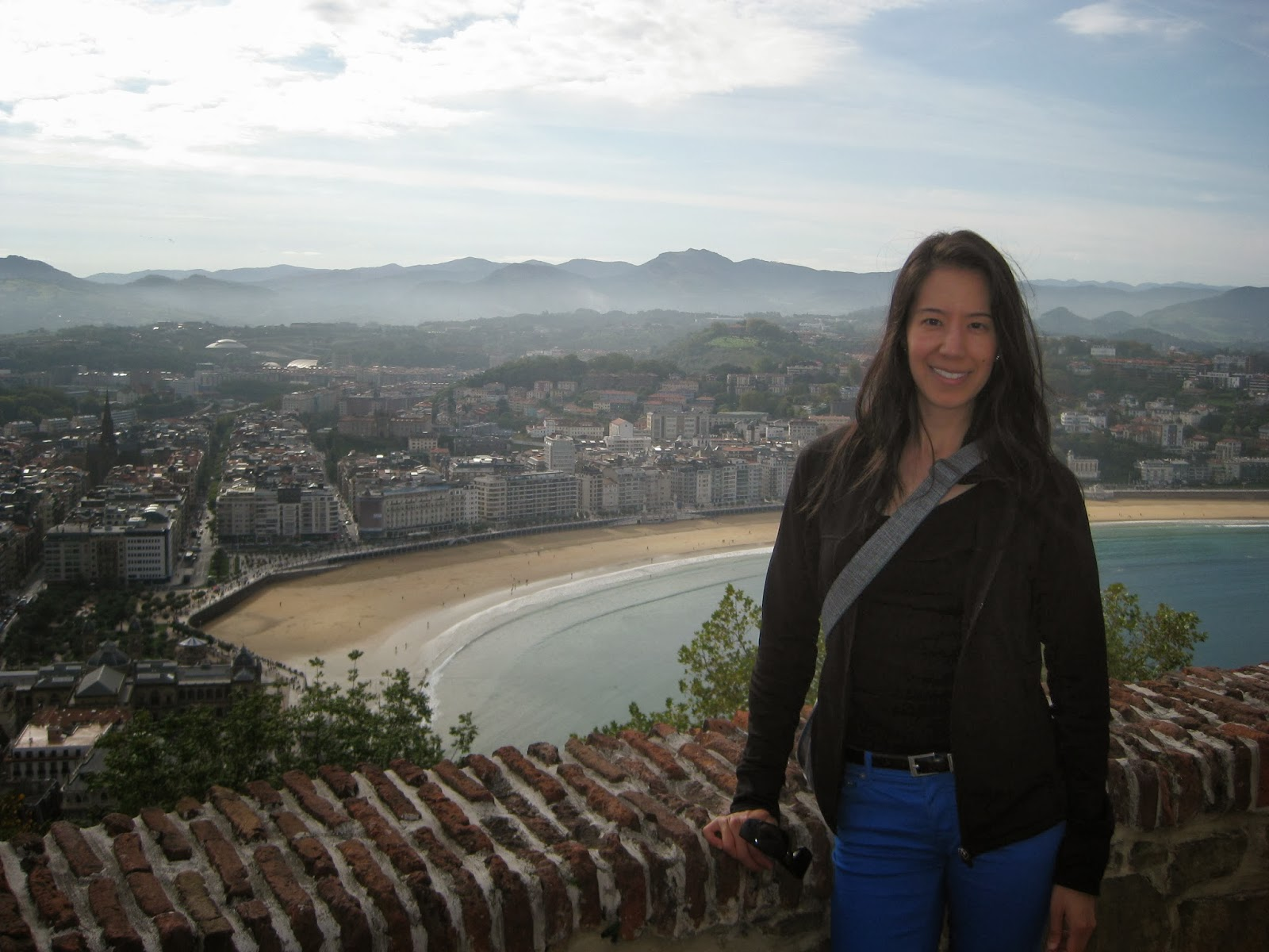San Sebastian - view of the beach from Monte Urgull